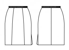 スカート_左裾スリット