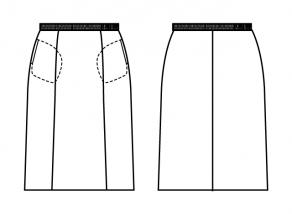 スカート脇ポケット