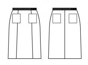 スカート貼付けポケット