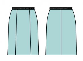 スカート裏付