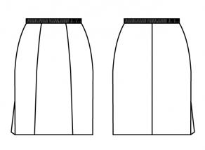 スカート_右裾スリット